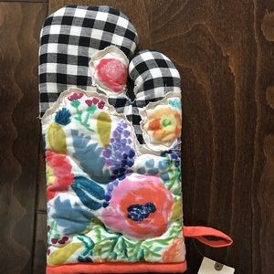 NWT Anthropologie Floral Oven Mitt